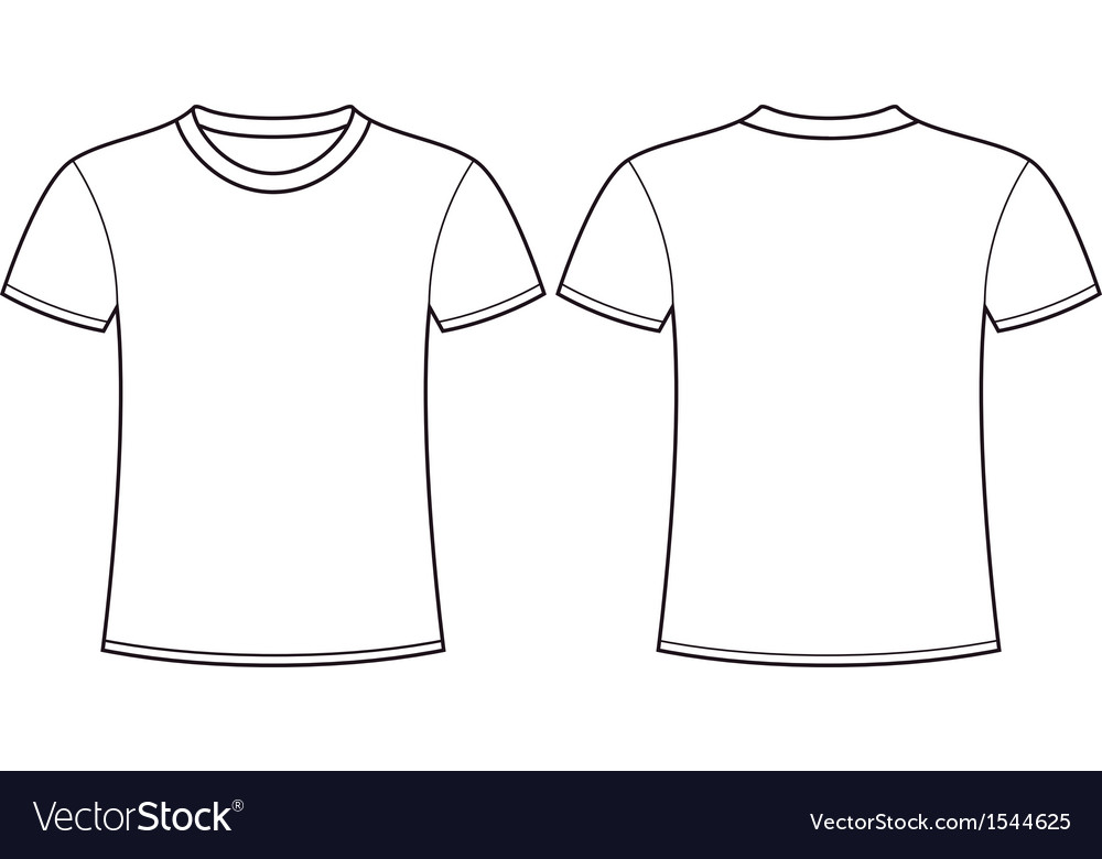 Free Blank Tshirt Template Vector Front and Back PSD files