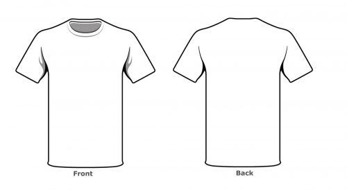 Blank Tshirt Template Front Back Side In High Resolution | Empty