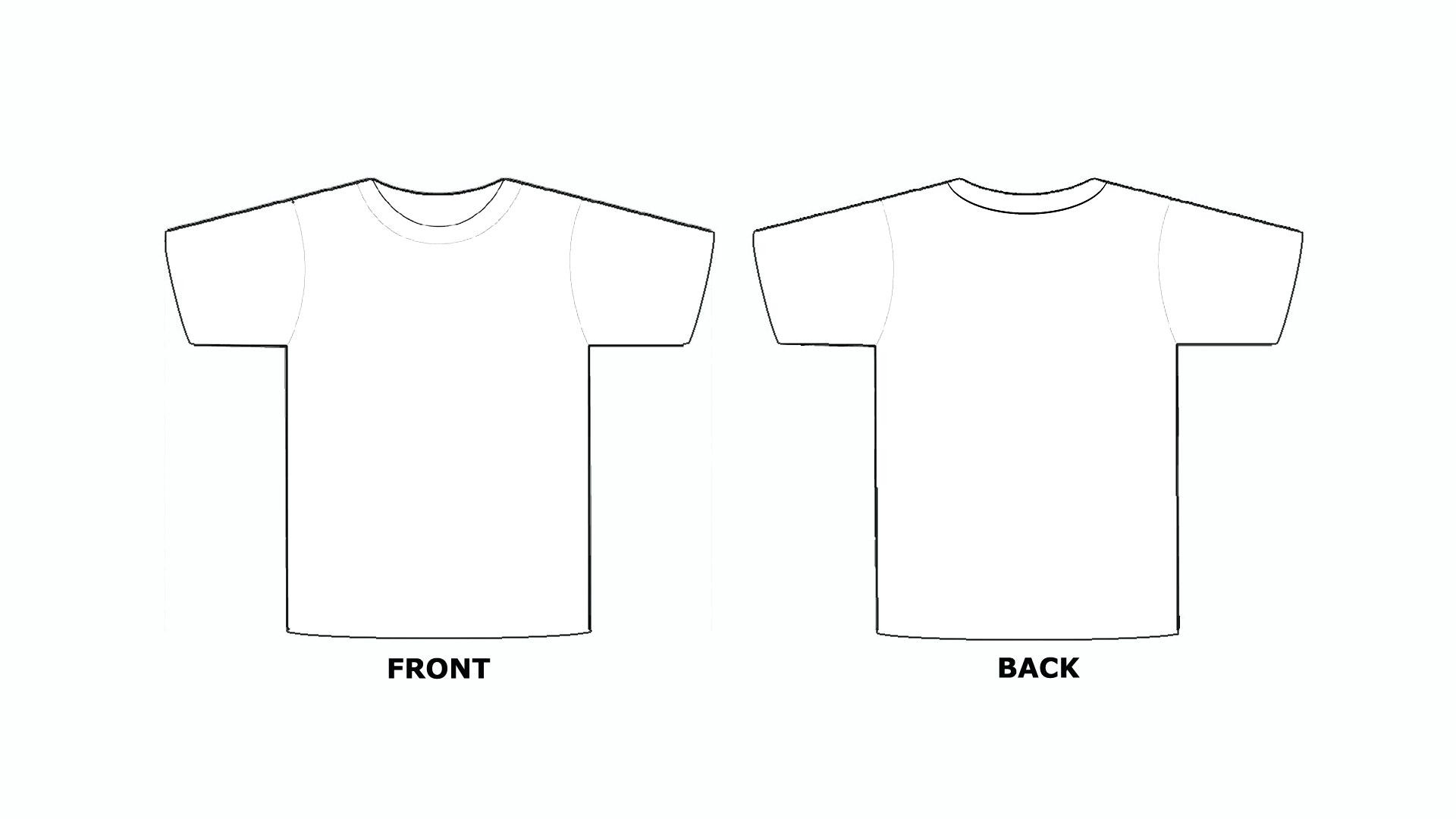Blank T Shirt Silhouette at GetDrawings.| Free for personal