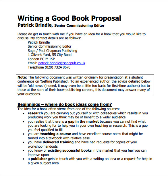 book proposal template book proposal template 14 free word excel