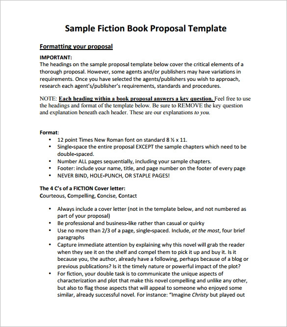 book proposal template fiction book proposal template proposal