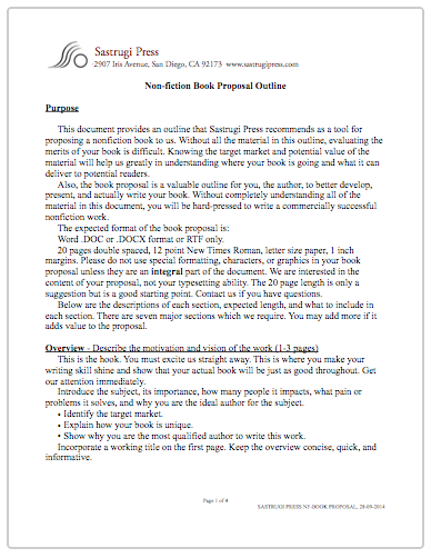 Book Proposal Template   Henrycmartin.com