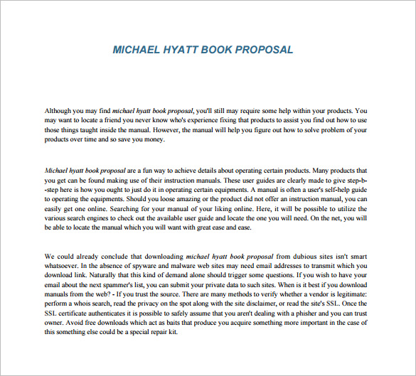 Template For Book Proposal | one piece