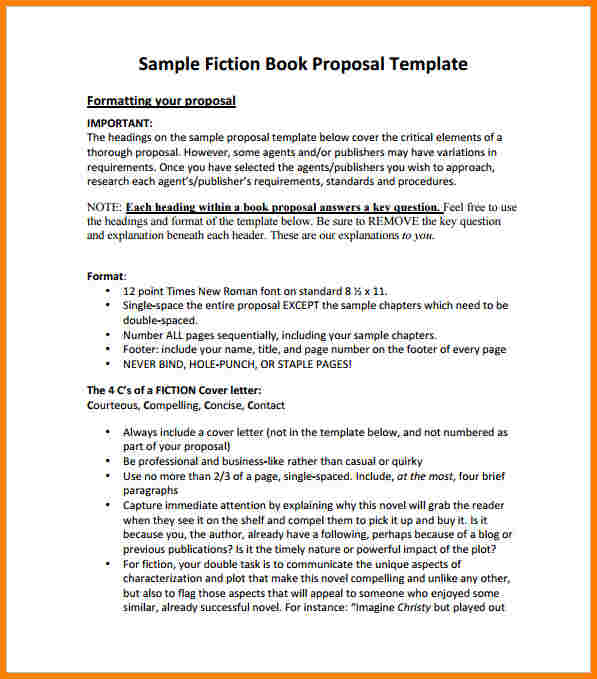 fiction book proposal template fiction book proposal template