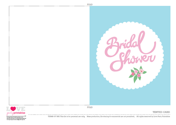 Bridal Shower Invitations: Free Printable Bridal Shower
