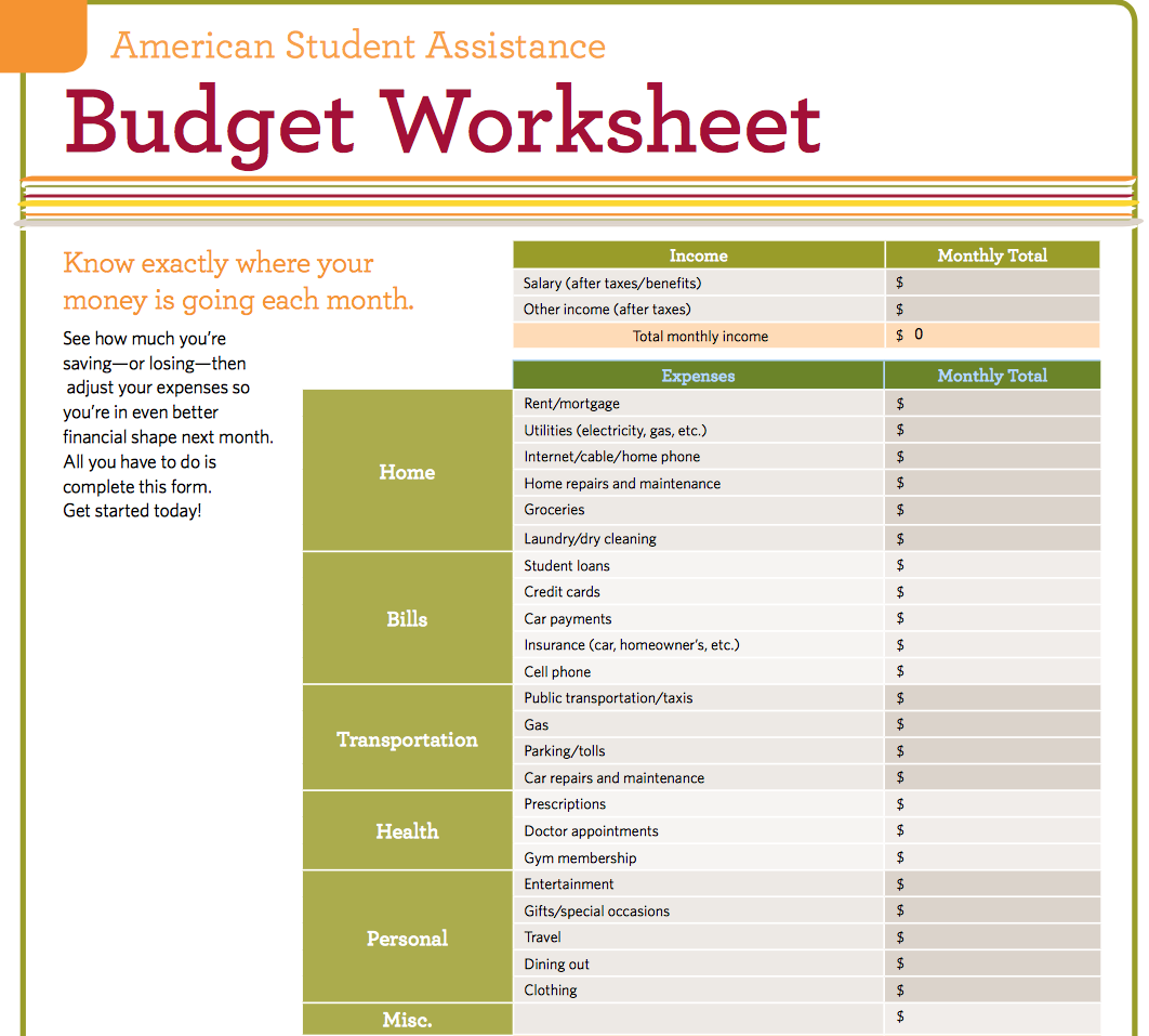 Fill In Budget Worksheet Image Hd Tire Driveeasy Co Simple