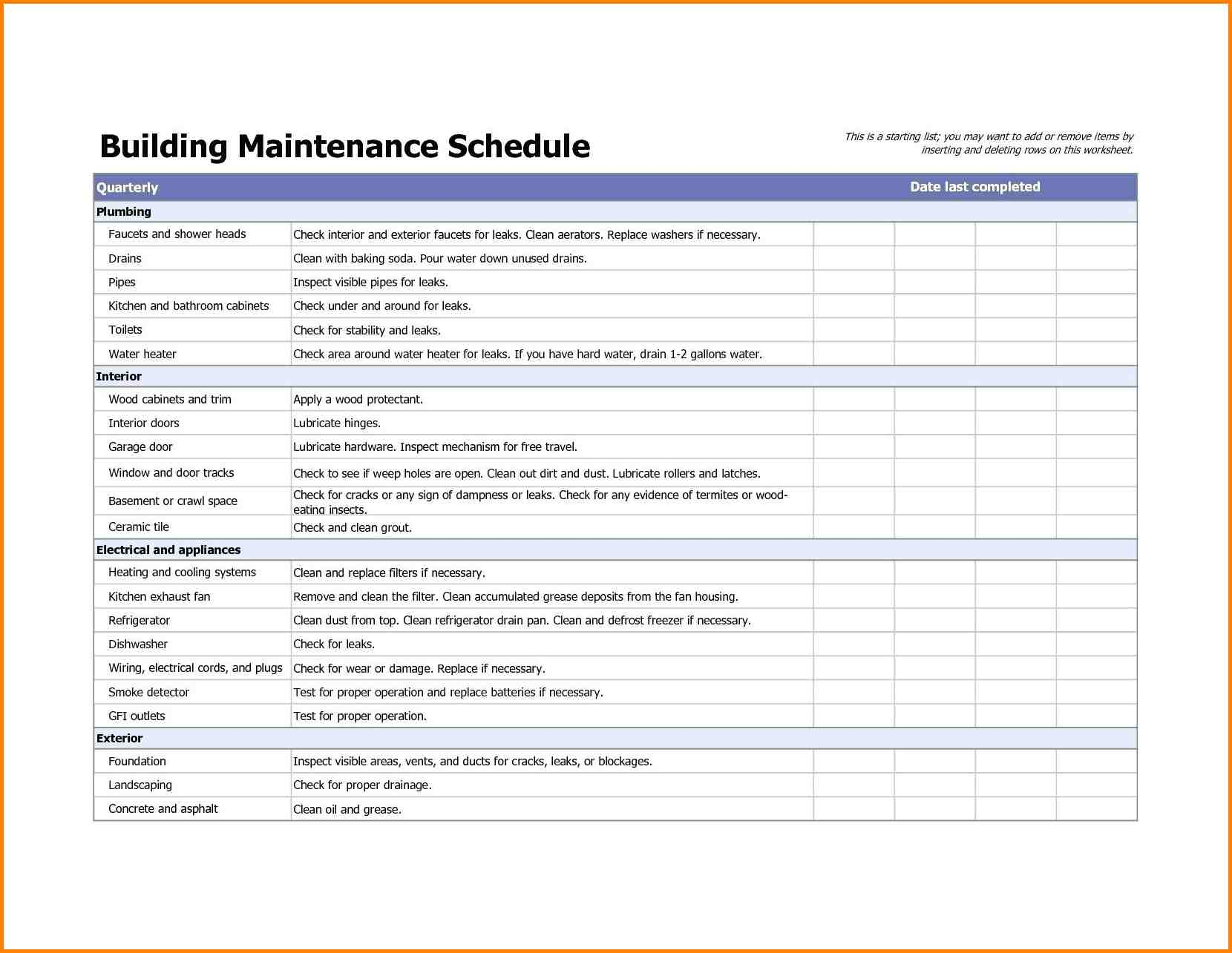 buildings maintenance checklist   Maggi.locustdesign.co
