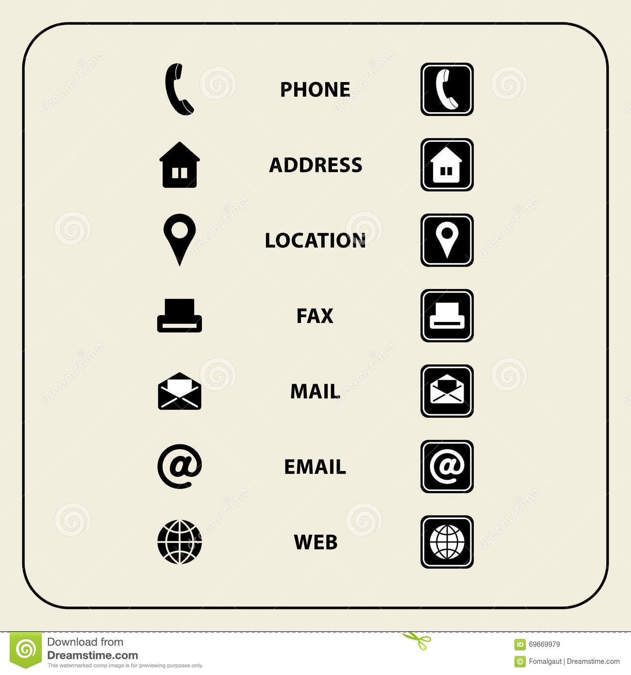Set Of Web Icons For Business Cards, Finance And Communication