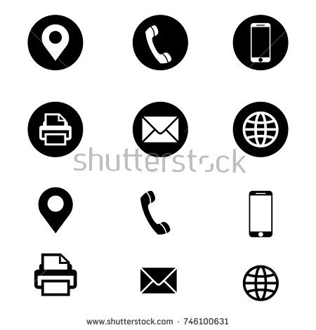 Vector Business Card Icon Stock Vector (2018) 746100631   Shutterstock