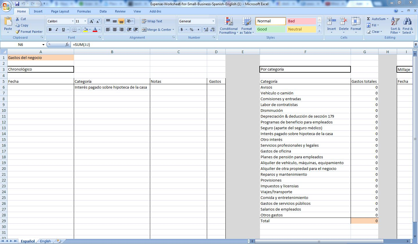 Business expenses tracker small expense tracking spreadsheet