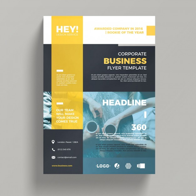 Creative corporate business flyer template PSD file | Free Download