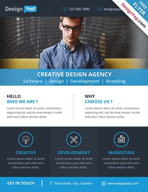 free business flyer templates download corporate business agency