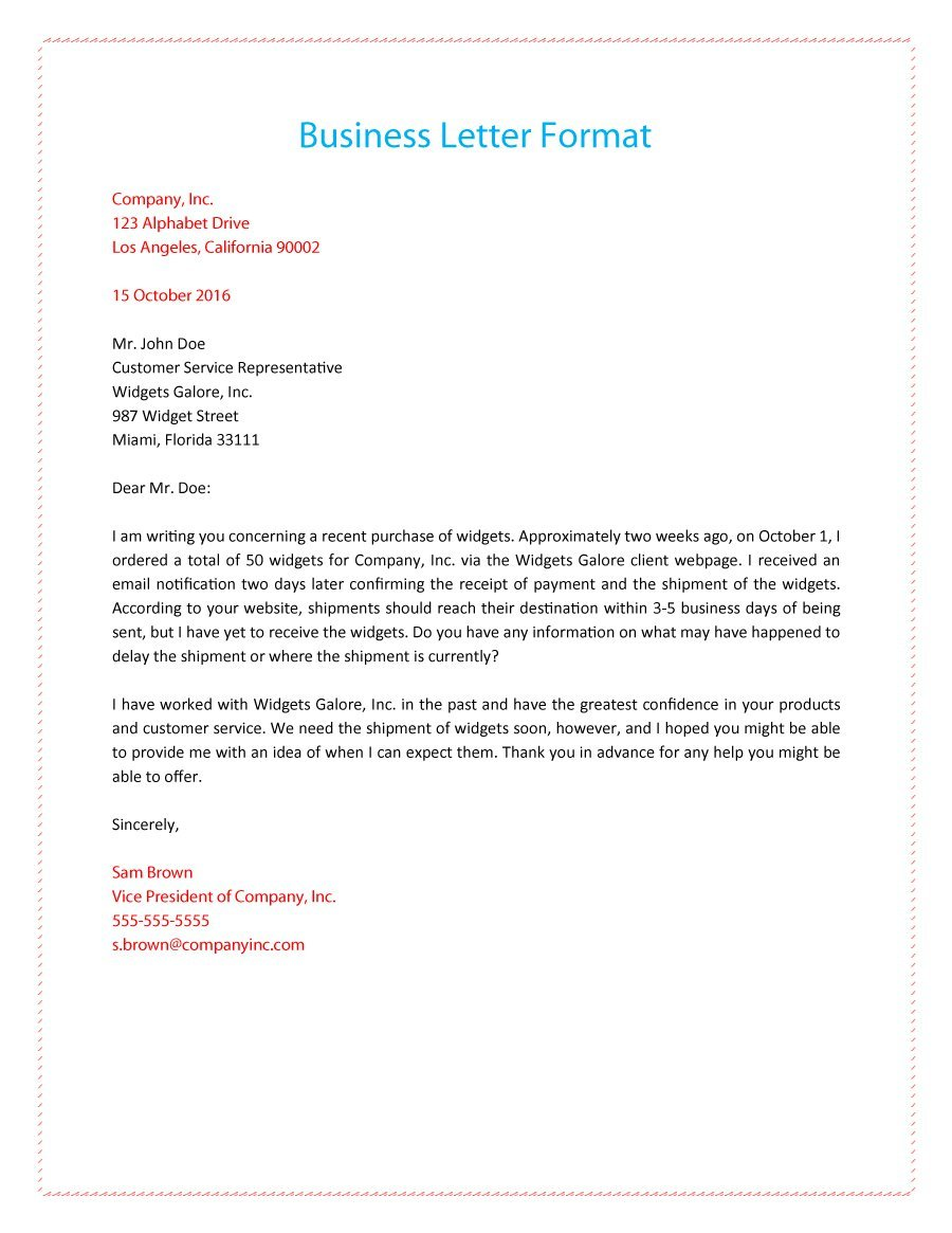 business letter format   Joli.vibramusic.co