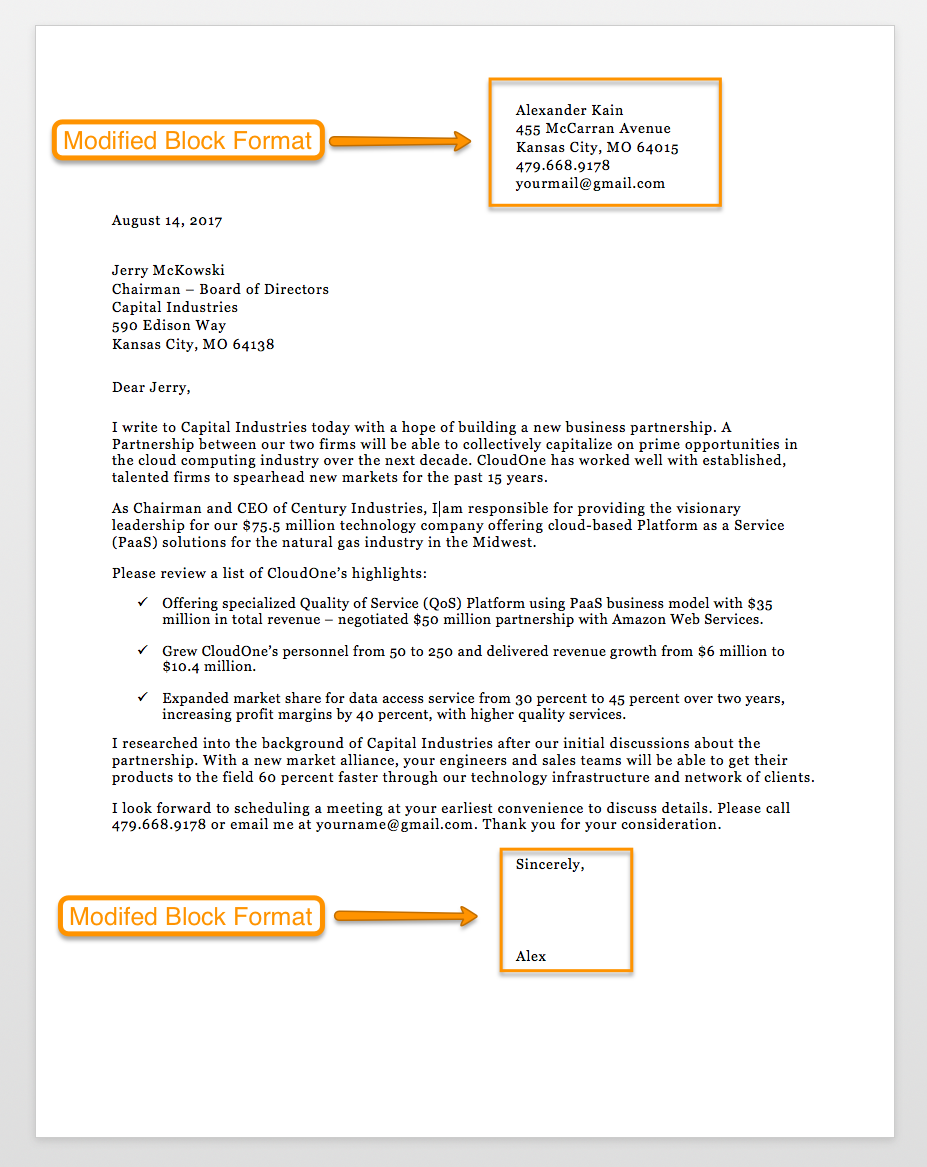 Business Letter Format Template Business Letter Format Business