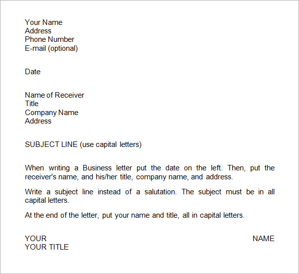 28+ Business Letter Templates   PDF, DOC, PSD, InDesign | Free