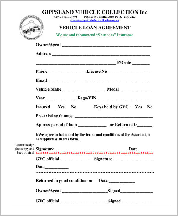 Car Payment Agreement Contract Template
