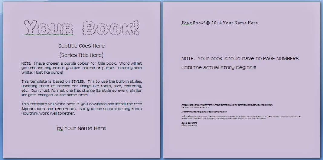 Free Children's Book Template Signup ~ Write Kids' Books! | Write