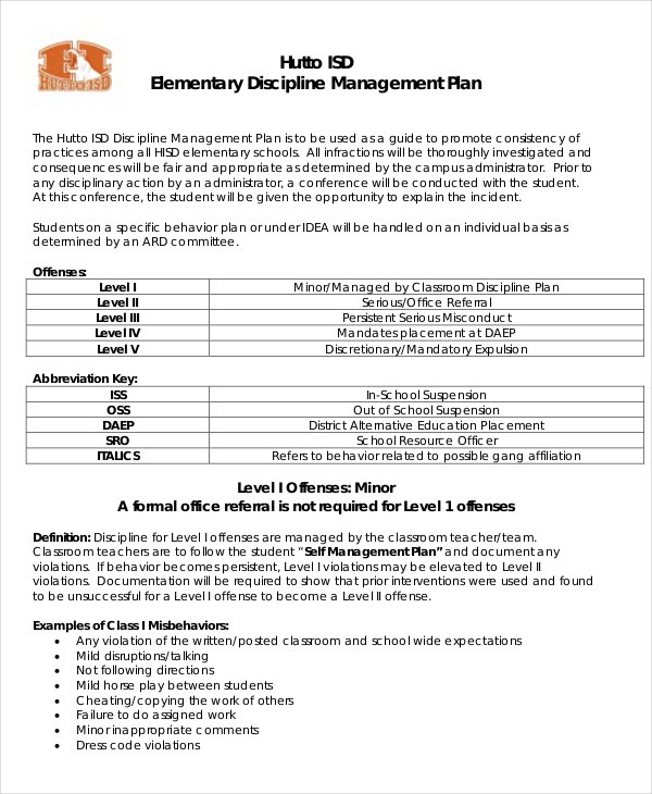 Behavior management plan behavior management plan practical pics