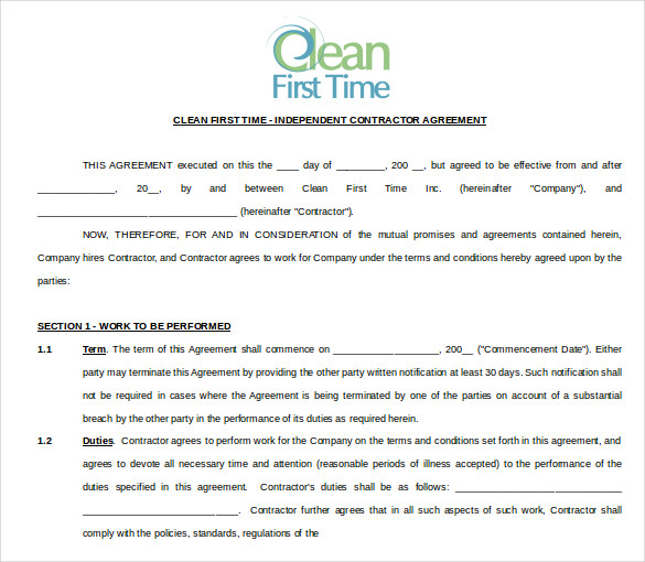cleaning agreement template cleaning contract template 17 word pdf