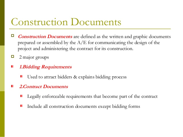 Preparing Contract (Tender) Documents for Construction Projects
