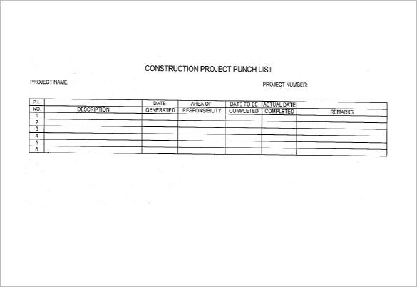 How to Create Construction Punch List Template in Excel, Download