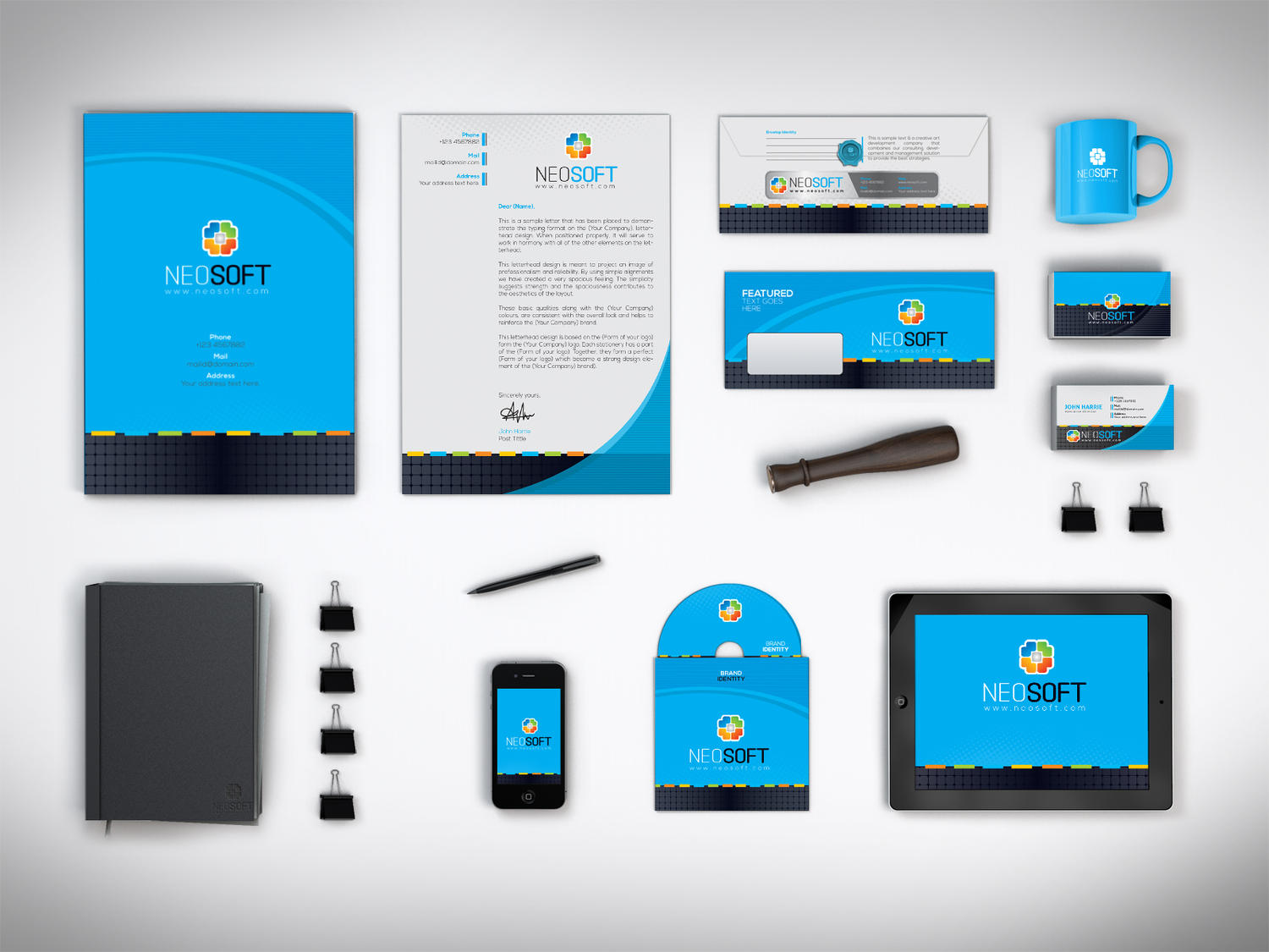 Corporate Identity Package Design by ContestDesign on Envato Studio