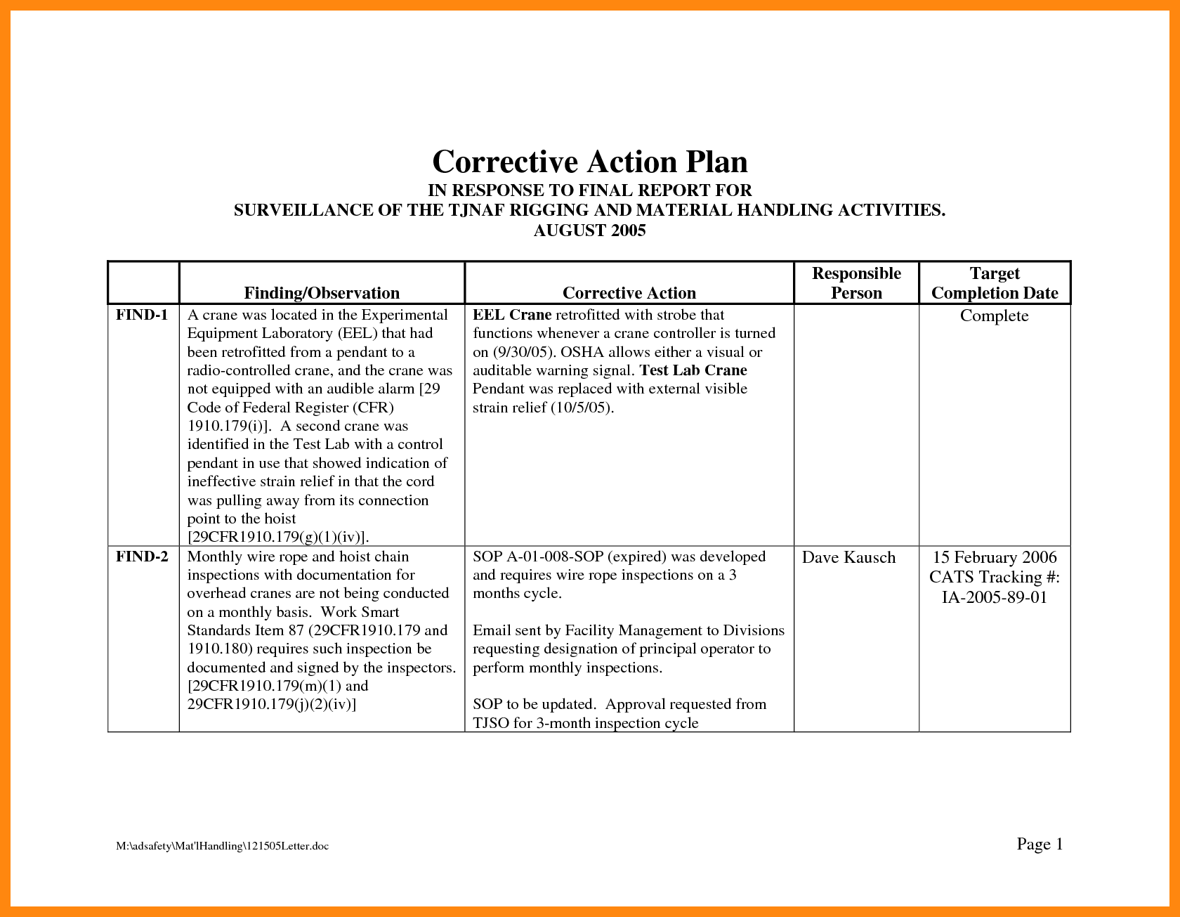 Corrective action plan template excel 12 ready drawing – gopages.info