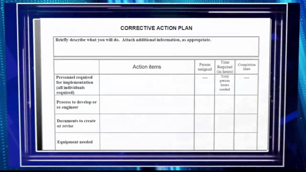 Creating a Corrective Action Plan Video Preview   YouTube