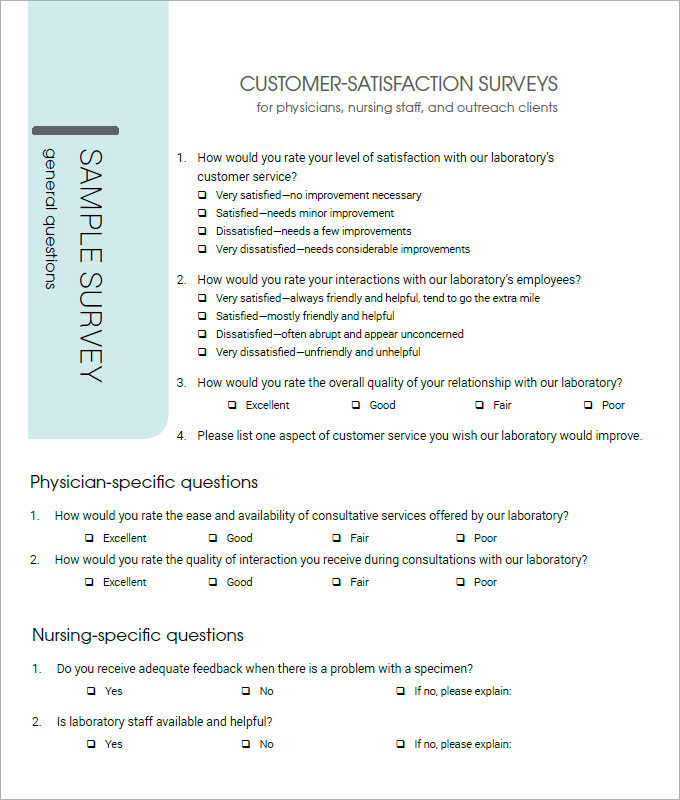 Customer Satisfaction Survey Template   10+ Free PDF, Word