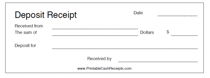 Rental Deposit Receipt Template Sample Deposit Receipt Deposit