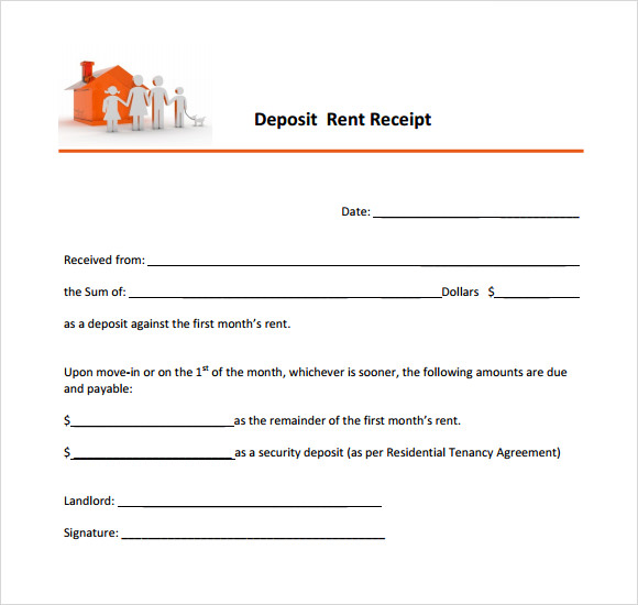 Free Security Deposit Receipt Template   Word | PDF | eForms