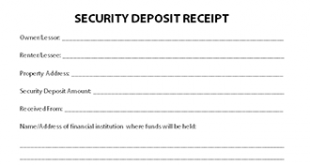 Download Security Deposit Receipt Template | PDF | RTF | Word
