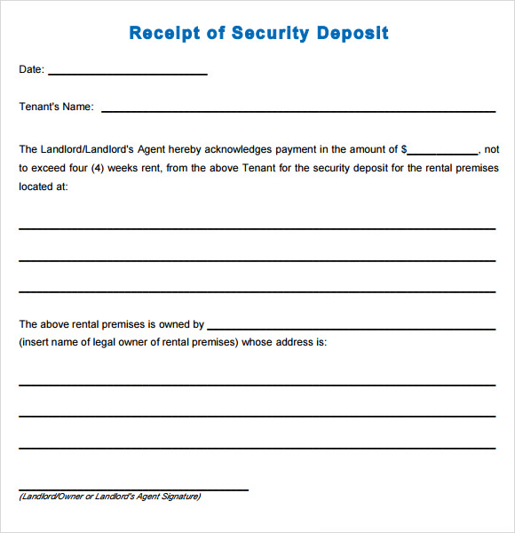 16 Sample Deposit Receipt Templates to Download | Sample Templates