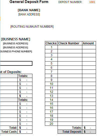 deposit forms template   Into.anysearch.co