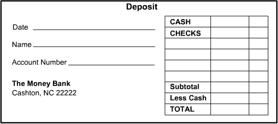 9+ Deposit Slip Templates | Sample Templates