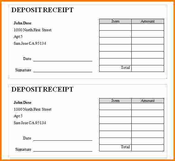 rent deposit receipt template   Into.anysearch.co