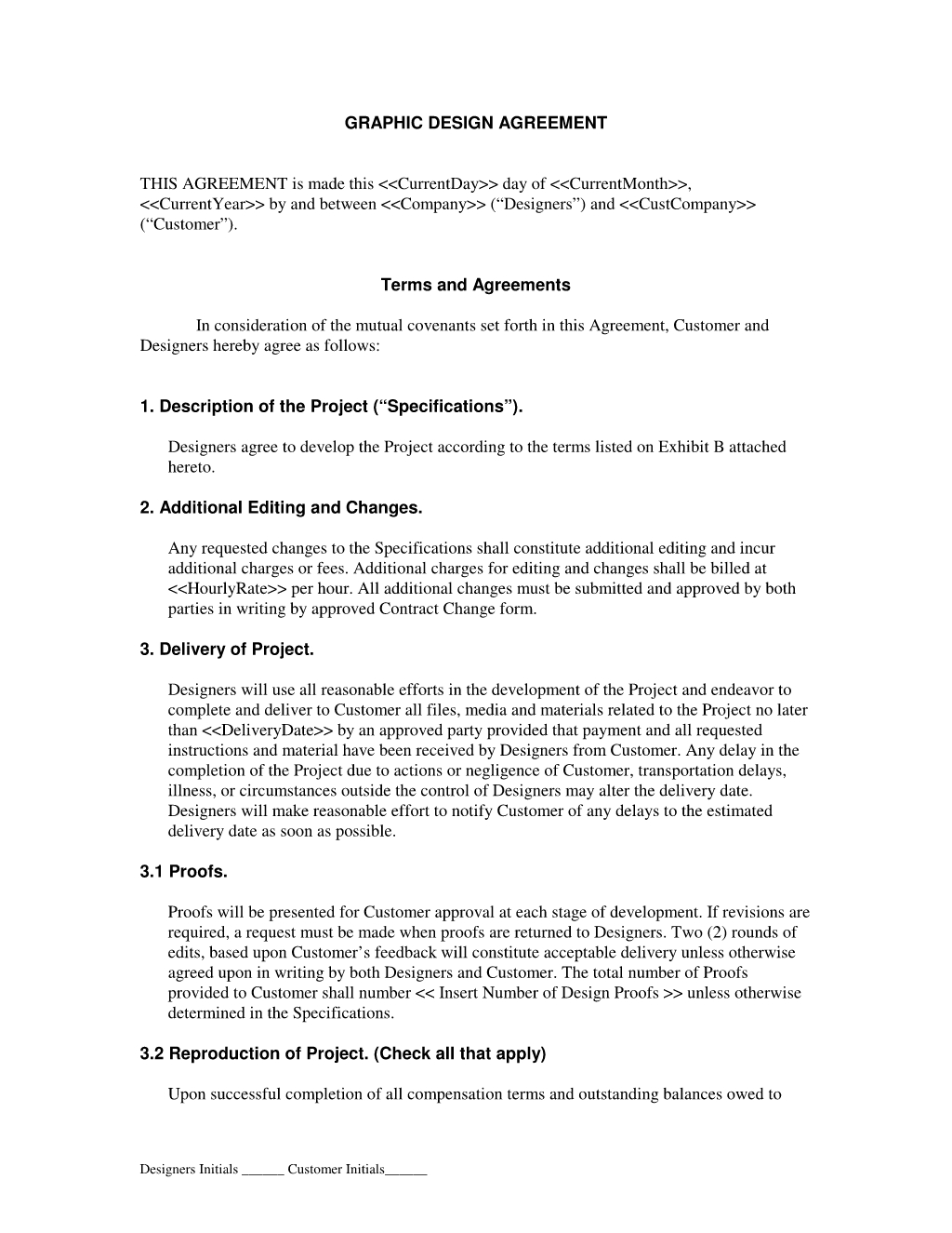 Graphic Design Contract | Simple Strat Office | Pinterest