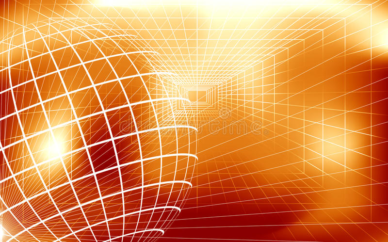 Digital Background Moving Flowing Triangles Blue and Orange Motion