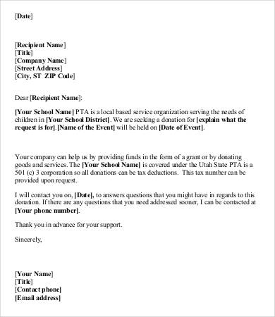 7+ Sample Donation Request Letters | Sample Templates