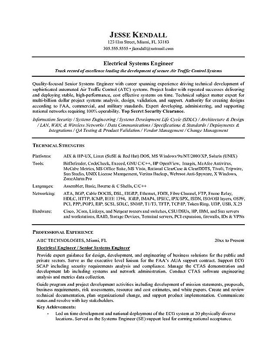 electrical engineer resume templates   Ecza.solinf.co
