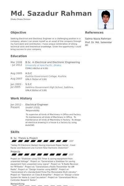Electrical Engineer Resume Sample & Template