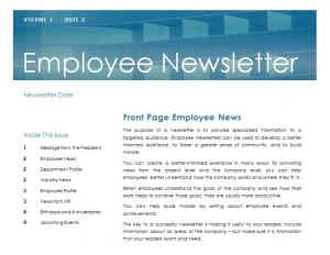 employee newsletter templates