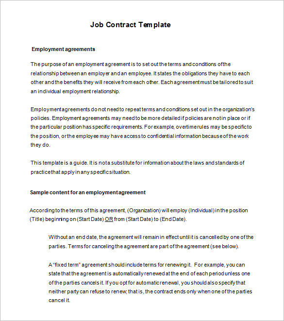 Employment Agreement Template Uk   Schreibercrimewatch.org