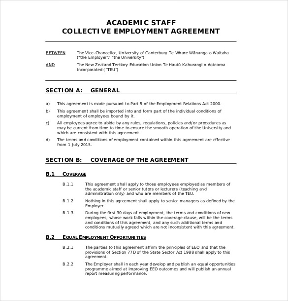 separation agreement template free nz employment agreements free