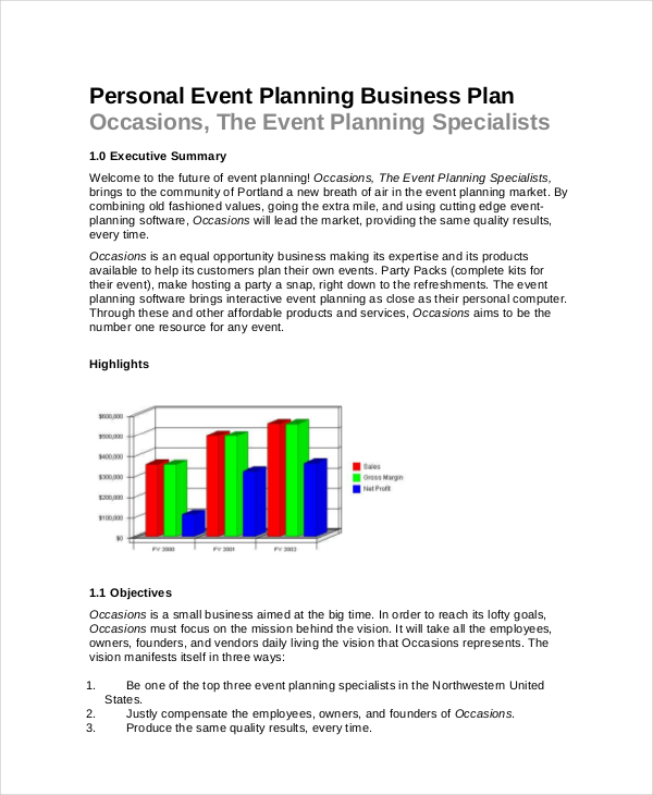 Event Planning Business Plan Template Event Planning Template 10