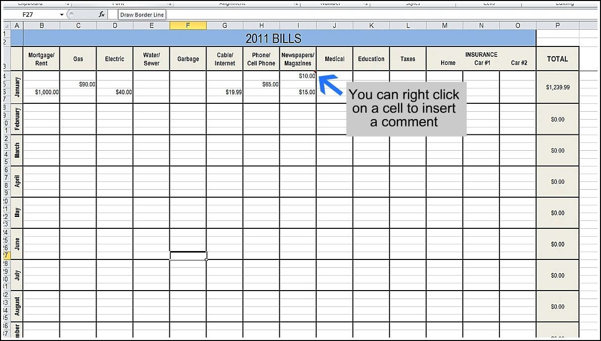 Bill Tracker Spreadsheetonthly Bills Organizer Beautiful Excel