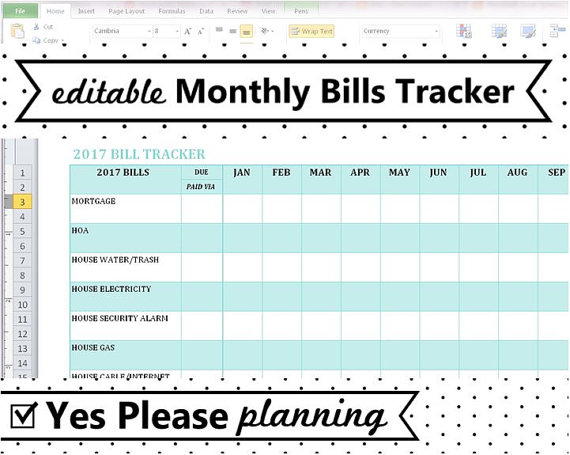 10 Free Bill Tracker Spreadsheet   SampleBusinessResume.