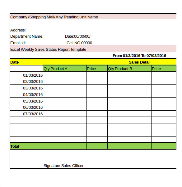 weekly reporting template excel   Romeo.landinez.co