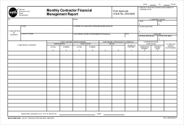 monthly financial report excel template   Romeo.landinez.co