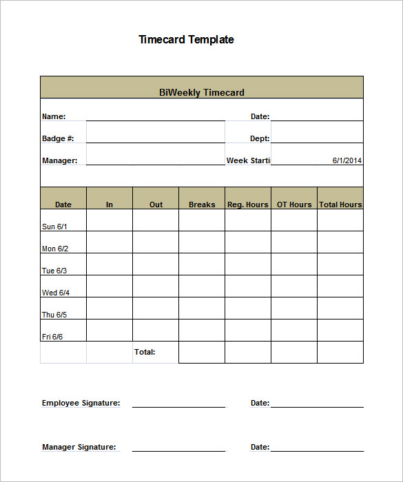 Time Card Invoice Template   Serjiom Journal